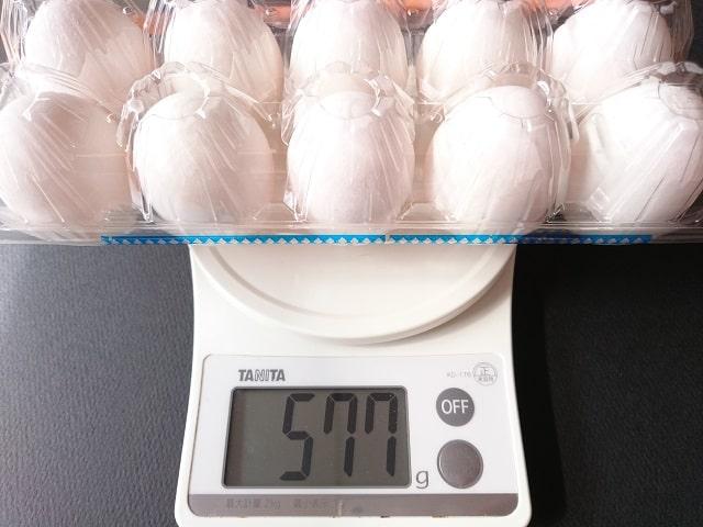 卵の重さMS玉
