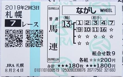 馬券の写真